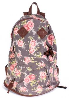 Carrot  -  Grey Flower Backpack #flowershop