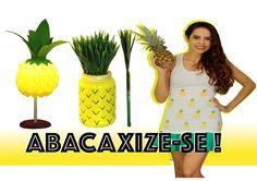 ABACAXIZE-SE! Luiminária, Camisa e Porta lápis - Paula Stephânia