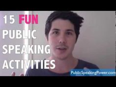 15 Fun Public Speaki