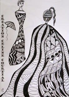 Mes gribouillages zen ou Zentangle®... #Art #Artiste