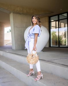 Here are some Fourth of July outfit inspo for you! These are also great outfits to wear all summer! Hot Summer Outfits, White Espadrilles, Warm Weather Outfits, Flutter Sleeve Top, Fourth Of July, Get Dressed, Fashion Beauty, Short Dresses, Street Style