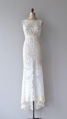Evaline wedding gown vintage lace wedding dress by DearGolden
