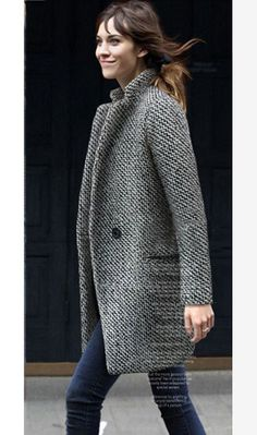 alexa chung - knee length coat