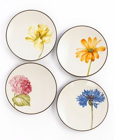 Noritake Dinnerware, Set of 4 Colorwave Chocolate Floral Appetizer Plates - Serveware - Dining & Entertaining - Macy's Bridal and Wedding Registry