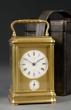 French Grande Sonnerie Carriage Clock by LeRoy & Fils   Sale Number 2502, Lot Number 555   Skinner Auctioneers