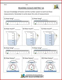 5th grade measurement worksheets - reading scales sheet 5a | Science ...