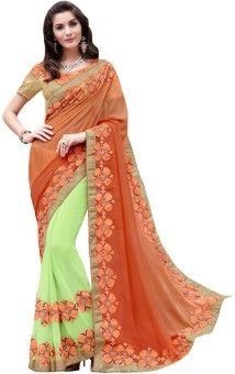 Resham Fabrics Embriodered Fashion Georgette Sari