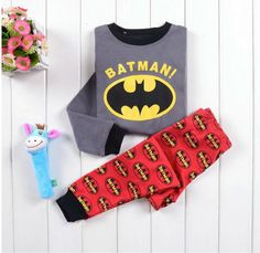 Boys Batman Pyjamas 100% Cotton Baby Pyjamas Kids Printed Sleepwears Clothing Set Available size 18-24 Months   Price £8.99 / set