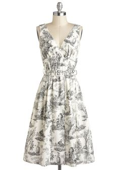 Bygone Days Dress in Skeleton Toile | Mod Retro Vintage Dresses | ModCloth.com ...this is so morbidly cute!! #modcloth #partydress
