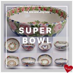 The real Super Bowl 😉@unikat-keramik.com #handpainted #worldwideunique #tableware #brigittehernuss #homedesign #interior #unique #geschirr #superbowl Super Bowl, Hand Painted, House Design, Unique, Tableware, Interior, Tablewares, Dinnerware, Indoor