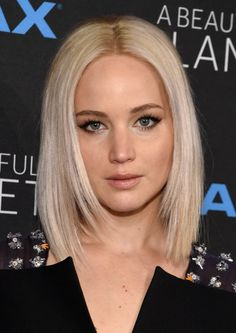43 Ideas For Hair Short Blonde Bob Jennifer Lawrence Hairstyles For Round Faces, Hairstyles Haircuts, Trendy Hairstyles, 2018 Haircuts, Bob Haircuts, Celebrity Hairstyles, Jennifer Lawrence Short Hair, Jennifer Lawrence Makeup, Medium Hair Styles