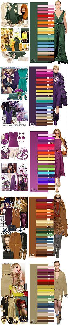 Odpowiednia kombinacja kolorów w ubraniu.