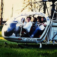 #TheCure in a helicopter