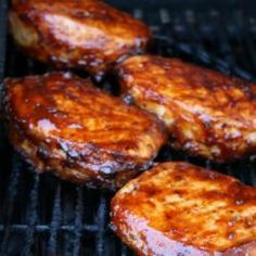 Juicy Pork Chops on the Grill | Outta the Park BBQ Sauce Click for recipe!