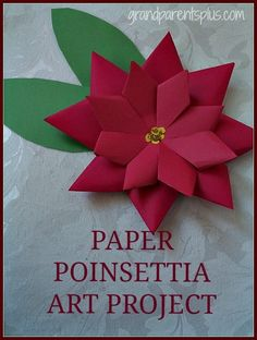 This Paper Poinsettia Art Project is very do-able for elementary children. Nothing about this has to be perfect and it still turns out beautifully. It is important, however, to fold the petals to …