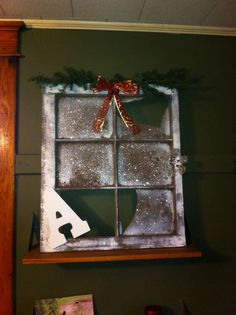 "DIY Christmas decorations. One word per frame ""oh the weather outside is frightful"""