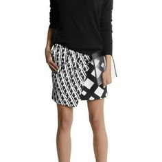Peter Pilotto for Target Skirt Sz 12 Gorgeous peter pilotto for target cloque skirt. Black white and grey draped skirt. Sold out on line Peter Pilotto for Target Skirts