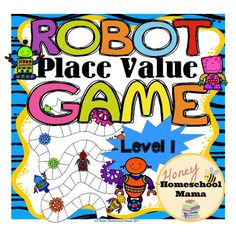 Robot Place Value Game - Level 1 for Practicing Ones to Hundreds Place - This game comes with everything you need to practice ones, tens, and hundreds place values in a fun way. No more boring worksheets! (aff link)