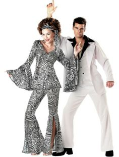 foxy lady and saturday night fever couples costumes party city - Party City Store Costumes