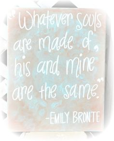 CLEARANCE Soul Mate Love Quote on 11x14 Canvas by HandyQuotes