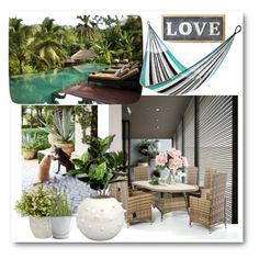 """""""Live love laugh"""" by oxyk23 on Polyvore featuring interior, interiors, interior design, home, home decor, interior decorating, West Elm, Yellow Leaf Hammocks, Dash & Albert and Potting Shed Creations"""