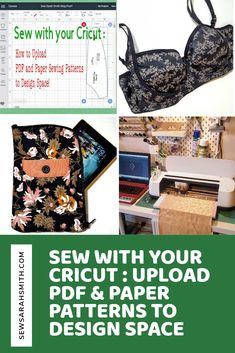 Sew with you Cricut! How to Convert and Upload your own PDF and Paper sewing patterns into Cricut 'Design Space' so your Cricut machine can cut out your sewing patterns! Bra Pattern, Pattern Paper, Paper Patterns, Pdf Sewing Patterns, Sewing Tutorials, Design Home App, Iron On Vinyl, Leftover Fabric, Pattern Images