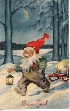 Father Christmas, Christmas Cards, Christmas Postcards, Legends And Myths, Elves And Fairies, Legendary Creature, Scandinavian Christmas, Leprechaun, Goblin