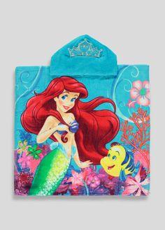 Kids Disney Ariel Poncho (58cm x 57cm) View 1