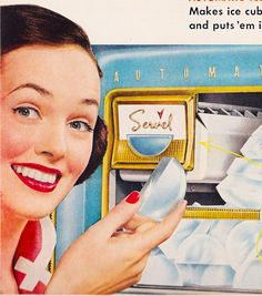 Ad- Servel Ice cube maker 1953 | Flickr: Intercambio de fotos