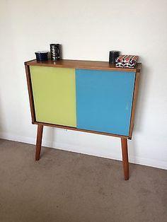 1960s Teak Beaver & Tapley Glass Cabinet Sideboard Vintage Mid Century Danish