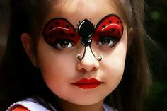 Ladybug Face Paint, Cool Face Painting Ideas For Kids…