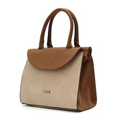 Kadell Vintage Lightweight Top Handle Handbag Purse for Ladies Shoulder Bag Brown -- You can get additional details at