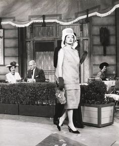 I Love Lucy - Lucy wearing a burlap sack thinking it's hot off the runway.  This episode is particularly hilarious!
