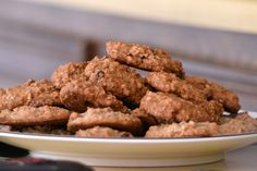 Ropogós diós-zabpelyhes keksz - Recept | Femina Biscuits, Almond, Food And Drink, Sweets, Cookies, Healthy, Desserts, Recipes, Cukor