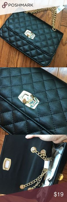 Express Quilted Purse Gorgeous and classic quilted handbag.  Chain strap can be adjusted to wear different lengths and styles. NWT Express Bags Crossbody Bags