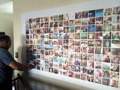 Large 4x8 bulletin board, instagram display, using this tutorial http://www.itsalwaysautumn.com/2013/7/5/huge-diy-photo-wall-bulletin-board-instagram-wall.html