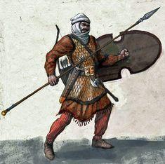 Spearman Warrior   Persian Heavy Armored Amrtaka (Immortal) Spearman