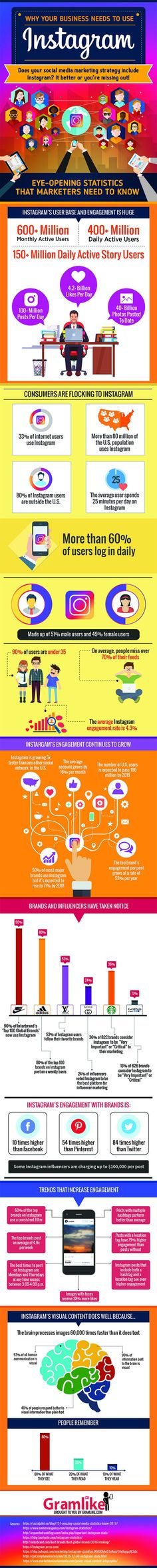 Why Businesses Should Use Instagram for Marketing | Social Media Infographic