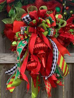 Excited to share this item from my #etsy shop: Christmas Finial Wreath, Christmas Wreath christmaswreath #garland #set #matching #finialornaments #elegant #classic #whimsical #christmas #decor #seasonal #holidaydecor #designer #wreaths #doordecor #redandgreen #wreathshop #etsyfinds #holidazedecor #wreathsforsale #custom #handmade #etsyshop #etsyseller #wreathsonetsy #instagood #instalike #instahome #homedecor #interiordesign #porch #frontdoor #instadecor