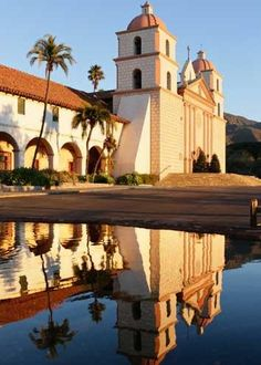 """Santa Barbara Mission - Associated with """"Island of the Blue Dolphins"""""""