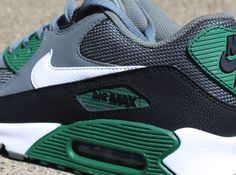 new product 71975 182bb Nike Air Max 90 - Mercury Grey - Gorge Green Tenis Masculino, Zapatos  Deportivos De