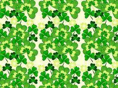 """Irish shamrocks"" by Smiles cream, day, green, irish, patricks, shamrocks, st"