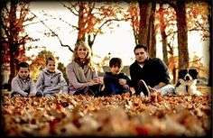 Cute fall family photo