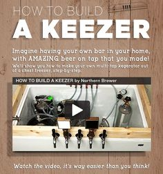 Homebrewing bar Homebrew Finds: Northern Brewer - How to Build a Keezer, Step by Step Homebrew Recipes, Beer Recipes, Beer Brewing Kits, Beer Fridge, Home Brewery, E 500, Brewing Equipment, How To Make Beer, Wine Making