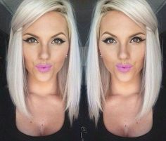 platinum+blonde+lob+hairstyle+for+women