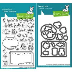 Lawn Fawn Set LF15FF TANK YOU Clear Stamps and Dies