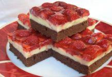 Jahodová torta s čokoládovým cestom a vanilkovým krémom! Sweet Desserts, Sweet Recipes, Dessert Recipes, Yummy Snacks, Yummy Food, Hungarian Recipes, Sweet Cakes, Cheesecake, Food And Drink