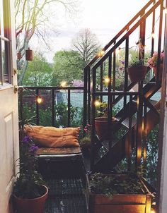 tiny patio space