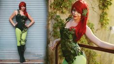 Poison Ivy from Batman costume DIY, Video tutorial by TheSorryGirls