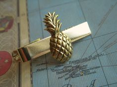 bd704f446306 Gold Pineapple Tie Clip Vintage Inspired Gold Tone Tropical Tiki Men's  Steampunk Fashion Accessories. $28.00, via Etsy.